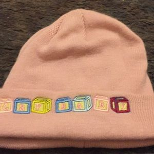 Pink beanie hot topic says cry baby